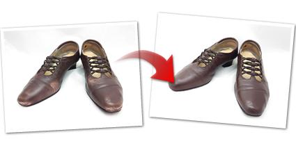 婦人靴の磨き+リメイク