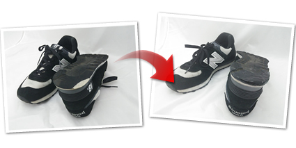 スニーカー 靴底修理